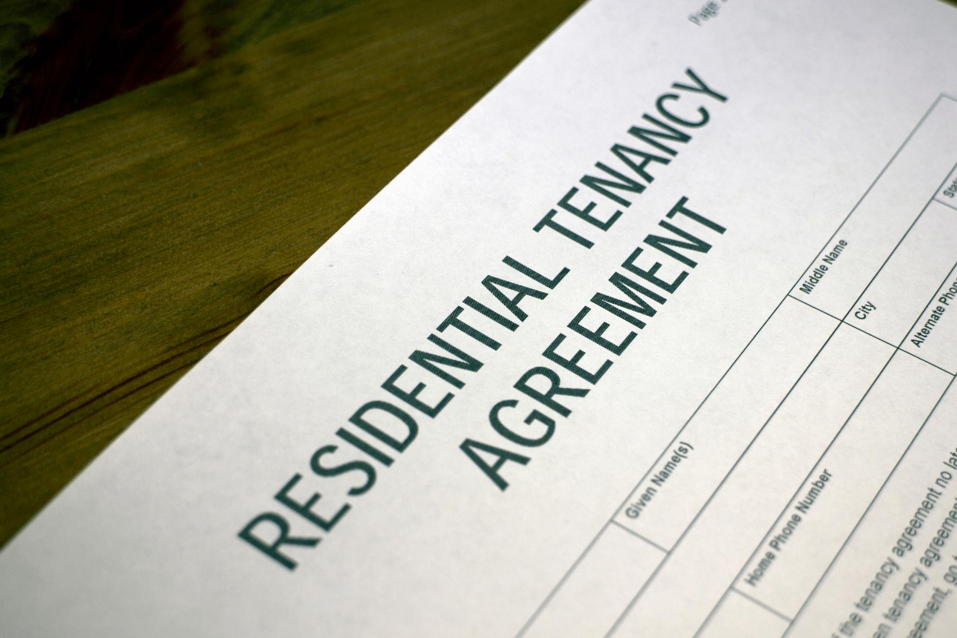 residential tenant agreement paperwork