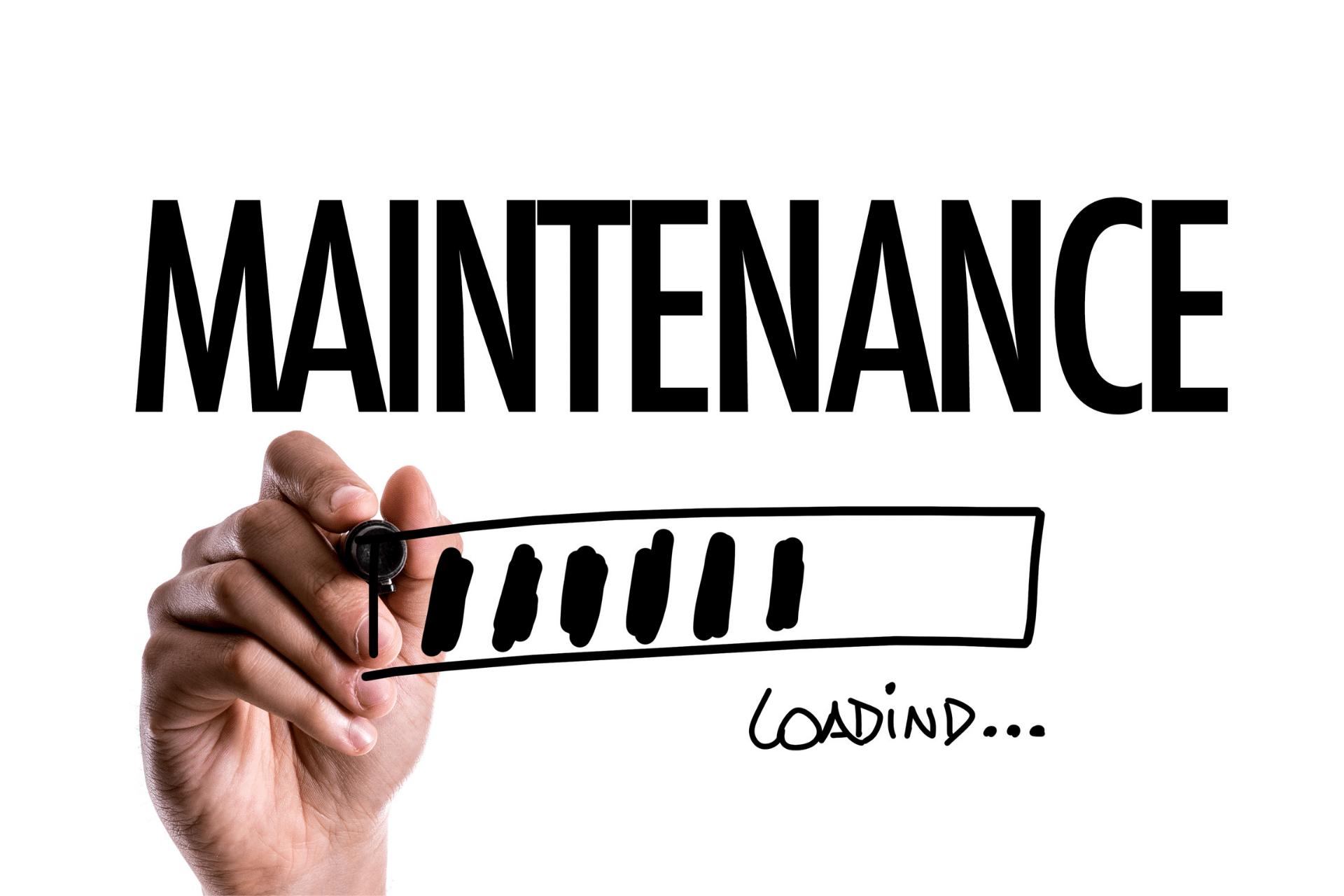 hand writing the word maintenance